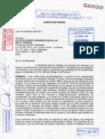Cargo de Carta Notarial a Glice Barreno, dueña del perro rottweiler