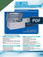 TC200 Analizador Automatico de Bioquimica