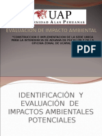 IDENTIFICACIÓN  Y EVALUACIÓN  DE  IMPACTOS AMBIENTALES  POTENCIALES1