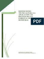 Definiciones Tecnicas Para La Aplicacion en Los Delitos de La Ley Forestal de Honduras