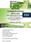 Chap 1 Introduction to Nature Conservation