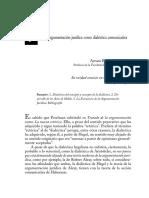 La argumentación jurídica como dialéctica comunicativa