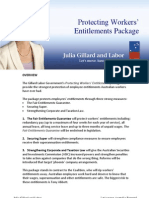 Protecting Workers' Entitlments - Package Fact Sheet
