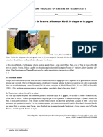 Francais 1 - Comprehension Ecrite - FR