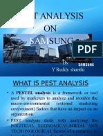 Pest analysis on Samsung