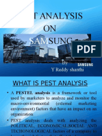 Pest analysis on Samsung