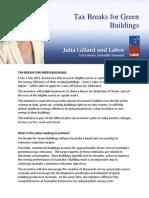 Tax Breaks for Green Buildings