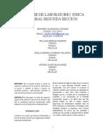 114064230 Informe Segunda Seccion Laboratorio Fisica