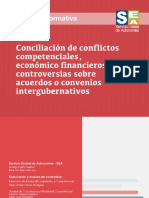 Cartilla Conciliación de Conflictos competenciales, económico financieros y controversias sobre acuerdos o convenios intergubernativos