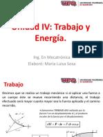 Unidad IV Trabajo Energia