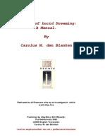 Carolus M. Den Blanken - The Art of Lucid Dreaming - A Manual