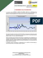 Aviso Hidrológico DZ 11 - No 04-2017 -Nuevo Incremento Del Río Mantaro
