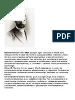 7. Edward Titchener