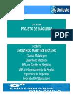 1a Parte - 01 Aula Proj Maquinas - Introducao Projetos