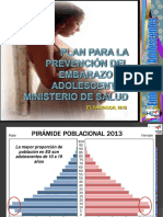 Plan de Prevención Embarazo Adolescente. Minsal ELS 2016