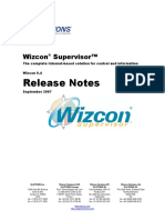 Release Notes Wizcon
