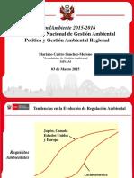 Gestión Ambiental Regional MINAM Mariano Castro Marzo 2015