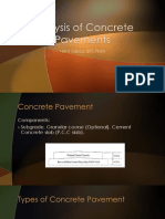 Analysis of Concrete Pavements