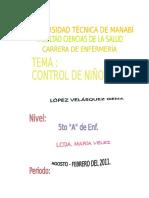 Control de Niñoo Sano - ENFERMERÍA