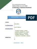 Monografia de Hidrosfera y Litosfera
