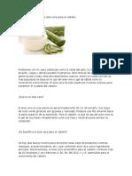 Beneficios de La Sábila o Aloe Vera Para El Cabello