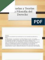 Escuelas y Teorías de Filosofía Del Derecho
