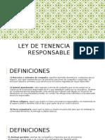 Ley de Tenencia Responsable