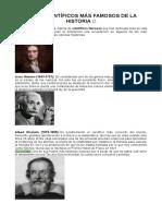 LOS 20 CIENTÍFICOS MÁS FAMOSOS DE LA HISTORIA ?