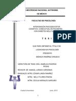 Tesis Intervención Cognitivo Conductual y Psicoeducación en Pacientes Con Diabetes Mellitus II