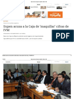 3-Supen Acusa a Ccss de Maquilar Informes de Ivm