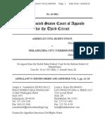 ACRU v. Philadelphia, Opening Brief