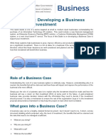 Innovation Connections Quick Guide Developing a Business Case for IT Investment WORD