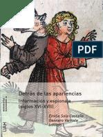 Detrás de Las Apariencias. Información y Espionaje (Siglos XVI-XVII) - Emilio Sola & Gennaro Varriale (Coords.)