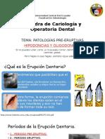 Patologias Dentales Preeruptivas  Hipodoncias y Oligodoncias - VICTOR HUGO ROJAS S.