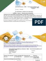 Guía de Actividades y Rúbrica de Evaluación - Tarea 1 - Historia de La Fotografía