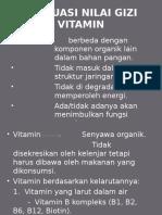 Evaluasi Nilai Gizi Vitamin