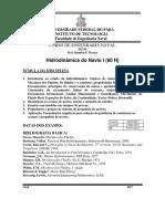 0 - Programa Da Disciplina Hidrodinâmica_I