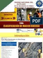 Clase 02b Clasificación de Macizo Rocoso