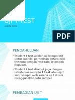 Uji t-test