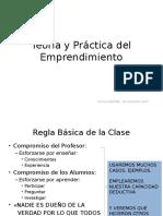 Teoría y Práctica Del Emprendimiento Sesión 1