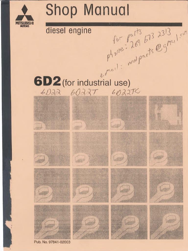 mitsubishi 6d22 engine service manual con texto reconocido pdf rh scribd com Dodge Ram 2500 Diesel Manual Diesel Engine Internals