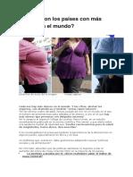 Cuáles Son Los Países Con Más Obesos en El Mundo