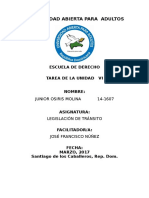 Tarea Vi Legislacion de Transito Junior Osiris Molina