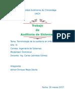 Guía 1 Auditoria de sistemas