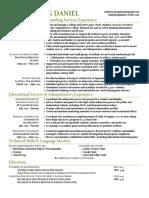 online resume - sc