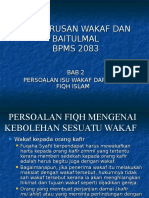 Bab 2, Persoalan Isu Wakaf Dari Aspek Fiqh Islam