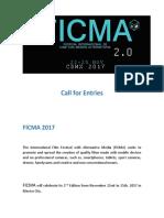 Ficma Call for Entries 2017 PDF