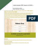 Membuat Form Login Dengan PHP