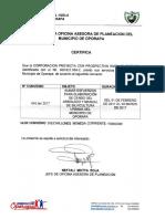 certificado oporapa