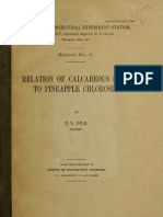 (1911) Relation of Calcareous Soils to Pineapple Chlorosis
